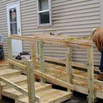 Wheelchair ramp under construction