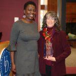 Award winner Laura Eisenman accepts honor
