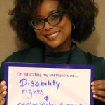 LEND student Angela Mitchell at Disability Policy Seminar