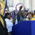 NAACP President Cornell William Brooks at voting rights march