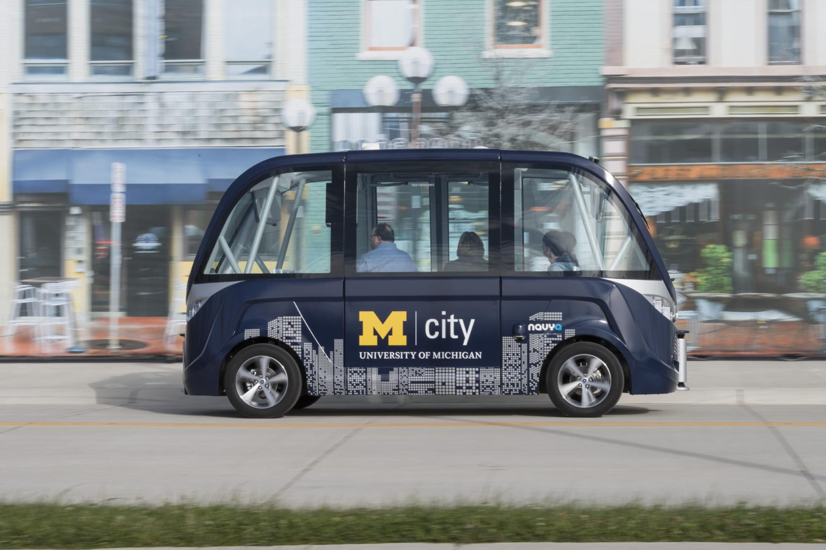 University of MIchigan's driverless shuttle bus