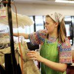 vocational rehabilitation program participant on the job at thrift store