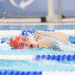 Patricia Pecora, of Dover, competes in a swimming event in the 2019 Special Olympics World Games