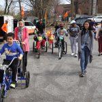 kids on adaptive bicycles