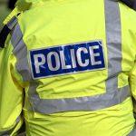 Back of policeman's jacket