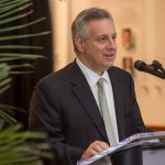 UD President Dennis Assanis speaks at the launch of the Spectrum Scholars program