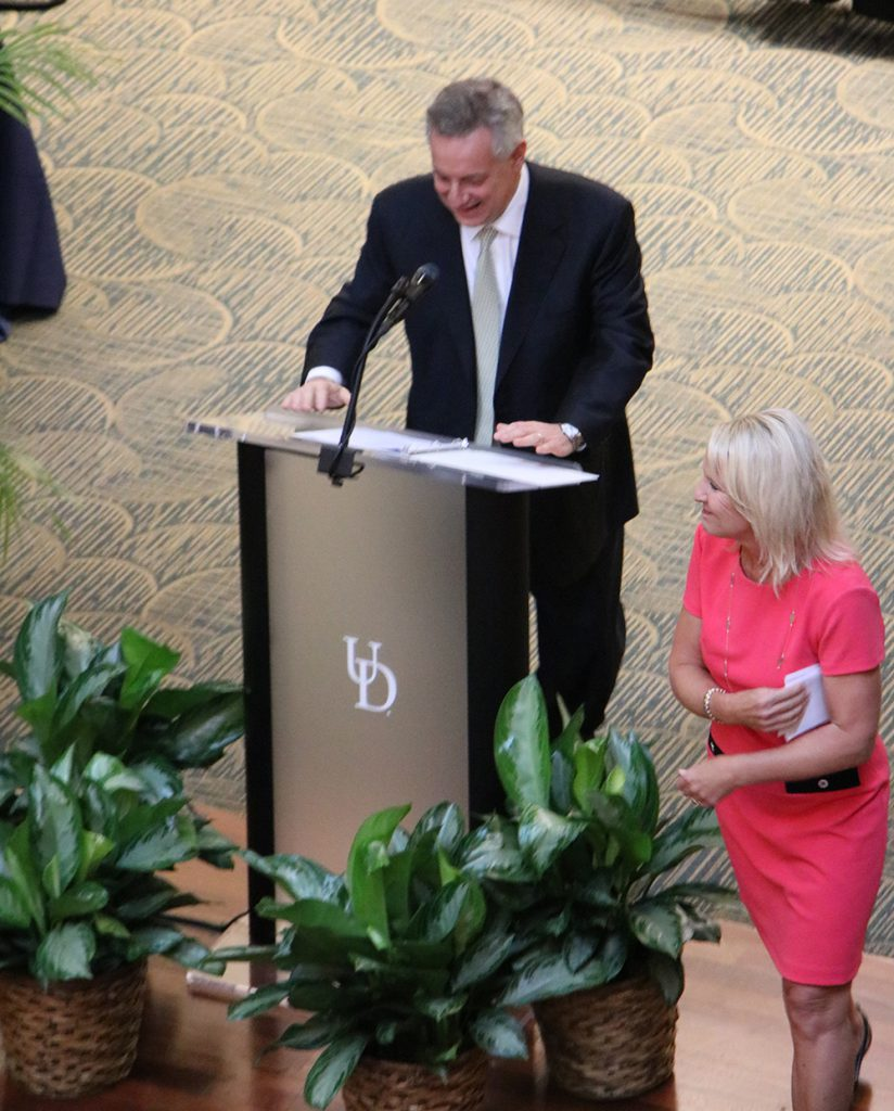 UD President Dennis Assanis and Lt. Gov. Bethany Hall-Long