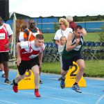 Racers in the 2019 Special Olympics Delaware games