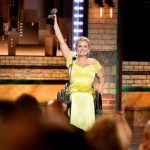 Ali Stroker accepts her Tony Award for featured actress in a musical