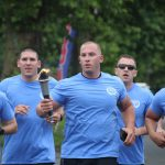 Law enforcement officers on 2019 SODE Torch run