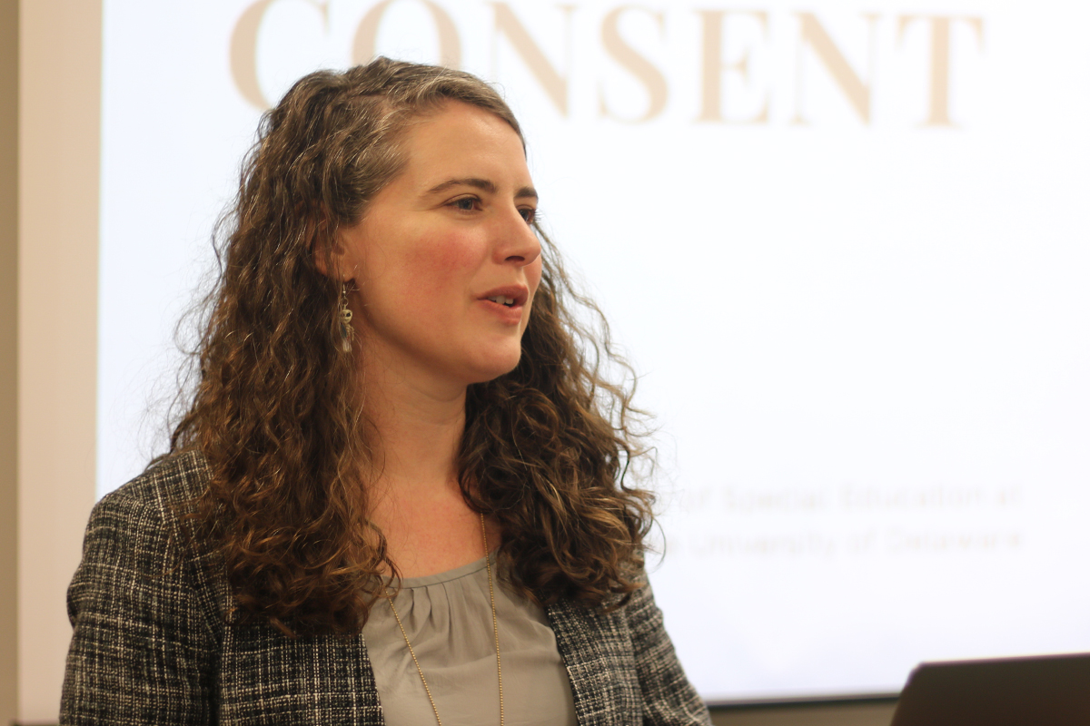 Sarah Curtiss, assistant professor of special education at the University of Delaware and the creator of ASDSexEd dot O R G