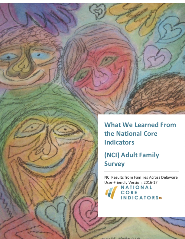 2016-2017 National Core Indicators Adult Family Survey report cover