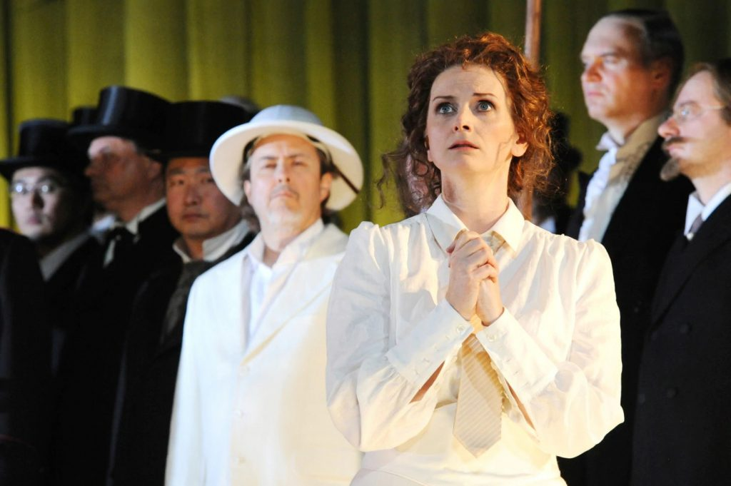 "Miriam Gordon-Stewart of Victory Hall Opera in Charlottesville performs in ""Lohengrin."""