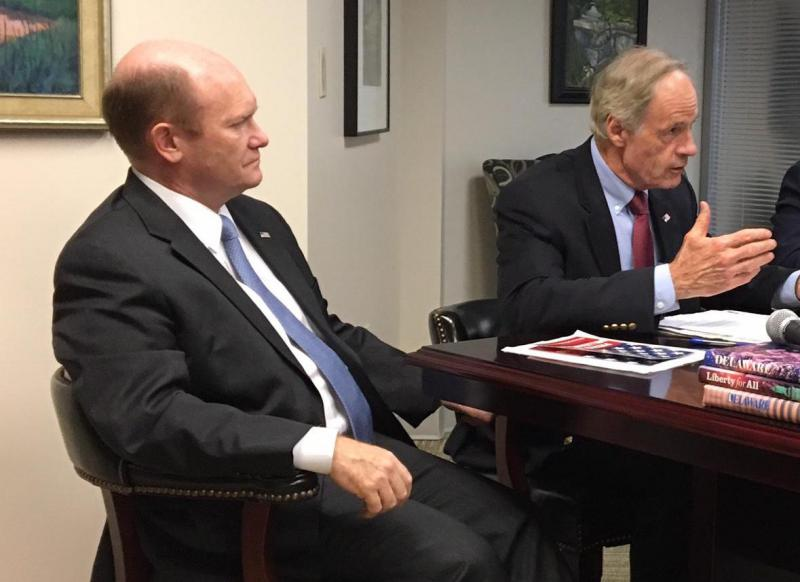 Delaware US Senators Chris Coons and Tom Carper