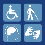 illustration of various disability related icons