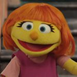 Sesame Street muppet Julia, who has autism