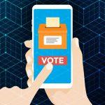 An illustration representing voting via smartphone