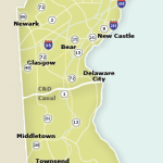 Map of New Castle County, Delaware