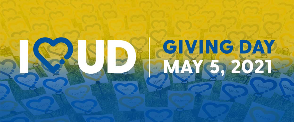 Logo for University of Delaware's annual giving day, I Heart UD, which takes place May 5