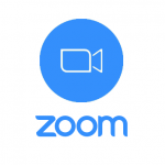 Logo of the Zoom web conference app